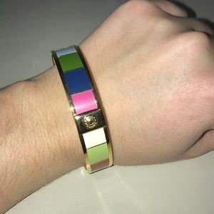 Coach Bangle (gold with many colors)